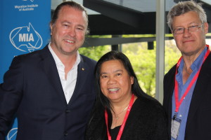 At the 2014 MIA Conference in Canberra, with Neil Perry, Masterchef (far left) and Leony Bowey, RMA Alice Springs